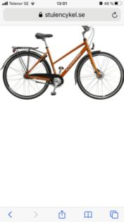 Stulen Crescent Rissa Malmö Cykelstöld