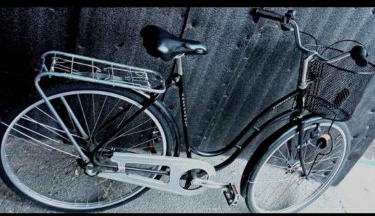 Cykelstöld Svart Skeppshult Promenad Stulen