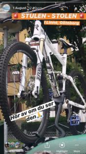 Stulen Mountainbike Göteborg Cykelstöld