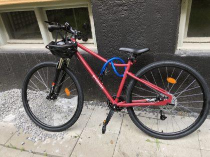 Cykelstöld BTWIN Riverside Valhallavägen Stulen