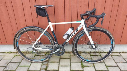 Cykelstöld White CX PRO Göteborg Stulen