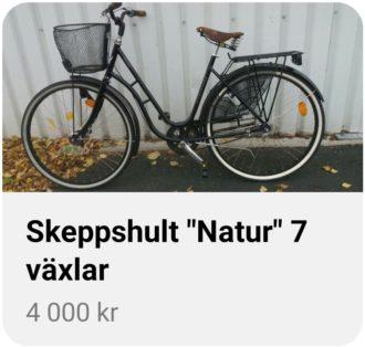 Cykelstöld Skeppshult Jönköping