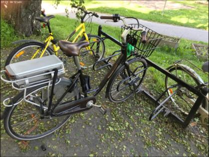 Cykelstöld Batavus Bagarmossen Stulen